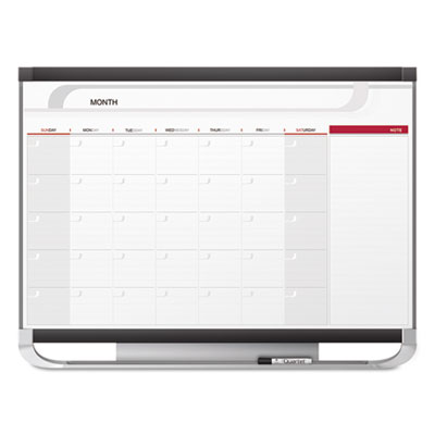 Prestige 2 connects total erase monthly calendar, 36 x 24, graphite color frame, sold as 1 each