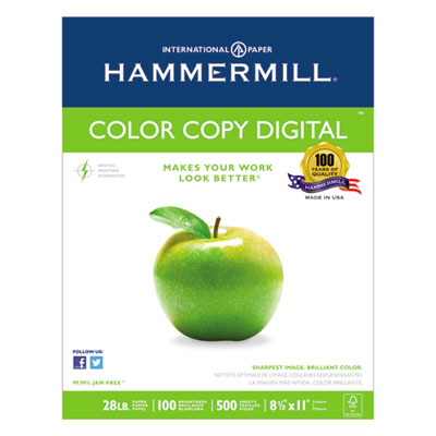 Copy paper, 100 brightness, 28lb, 8-1/2 x 11, photo white, 2500/carton, sold as 1 carton, 2500 sheet per carton