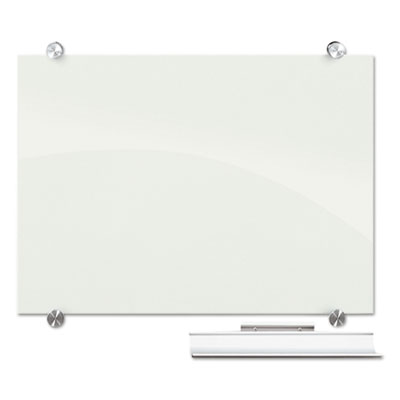 """Visionary magnetic glass board, frameless, white glossy, 72"""" x 48"""" x 1/8, sold as 1 each"""