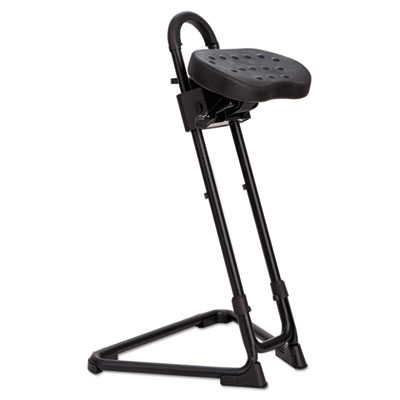 Ss series sit/stand adjustable stool, black, sold as 1 each
