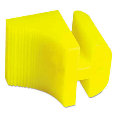 Silicone door stop, 3 x 1/4, neon yellow, sold as 1 each