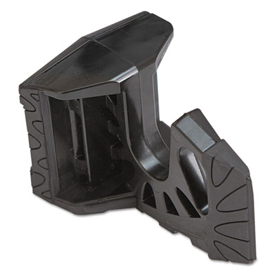 Any angle door wedge, polypropylene, 4 x 2 1/8, black, sold as 1 each