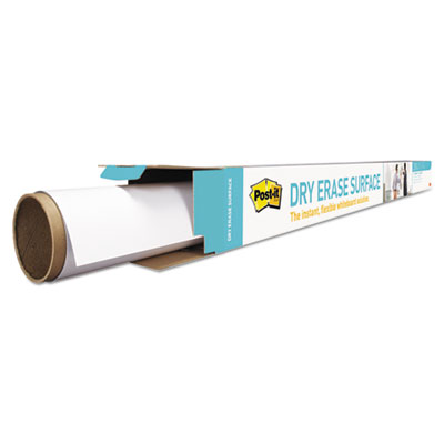 Dry erase surface with adhesive backing, 48 x 36, white, sold as 1 each