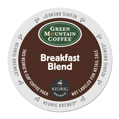 Breakfast blend coffee k-cups, 24/box, sold as 1 box, 24 each per box