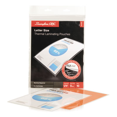 Fusion ezuse premium laminating pouches, 5 mil, 11 1/2 x 9, 10/pack, sold as 1 package