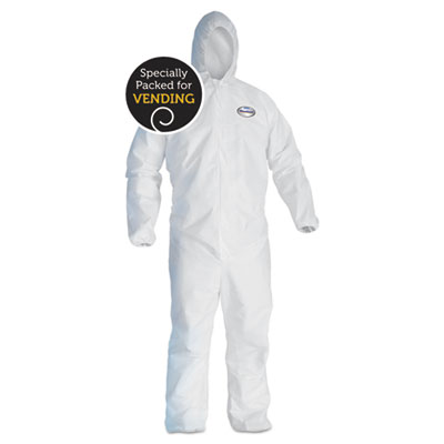 A40 liquid & particle protection coveralls, white, x-large, sold as 1 each