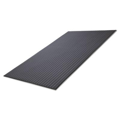 Ribbed vinyl anti-fatigue mat, 24 x 36, black, sold as 1 each