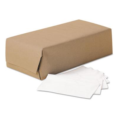 1/8-fold dinner napkins, 2-ply, 17 x 14 63/100, white, 300/pack, 10 packs/carton, sold as 1 carton, 3000 each per carton