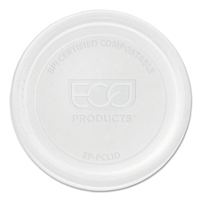 Renewable & compostable portion cup lids - universal, 100/pk, 20 pk/ct, sold as 1 carton, 2000 each per carton