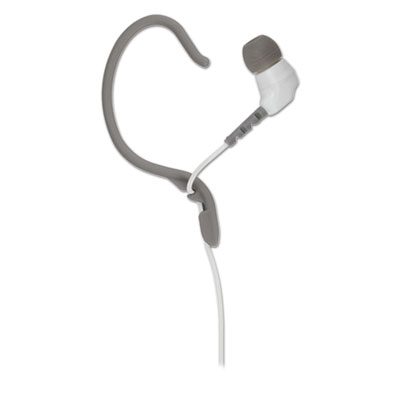 Thudbuds noise isolation sport earbuds, white, sold as 1 each