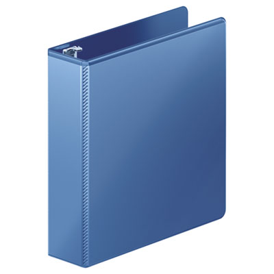 """Heavy-duty d-ring view binder w/extra-durable hinge, 2"""" cap, pc blue, sold as 1 each"""