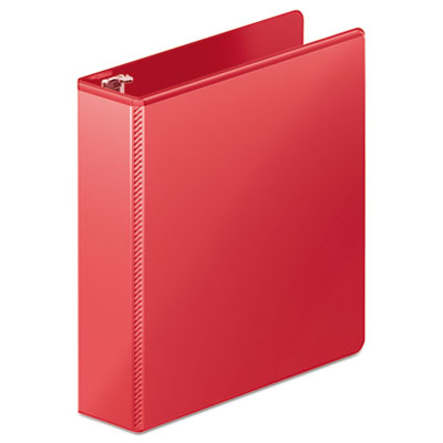 "Heavy-duty d-ring view binder w/extra-durable hinge, 2"" cap, red, sold as 1 each"