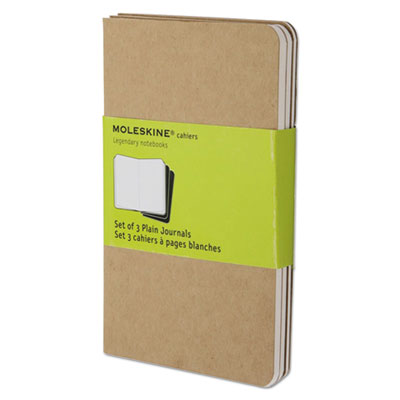 Cahier journal, plain, 5 1/2 x 3 1/2, kraft brown cover, 64 sheets, sold as 1 package