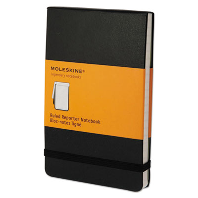 Reporter notebook, ruled, 5 1/2 x 3 1/2, black cover, 192 sheets, sold as 1 each
