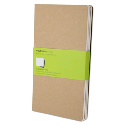 Cahier journal, plain, 8 1/4 x 5, kraft brown cover, 80 sheets, sold as 1 package