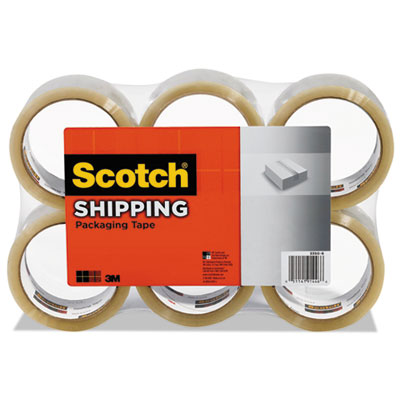 "3350 general purpose packaging tape, 2.83"" x 54.6yds, clear, 6/pack, sold as 1 package"