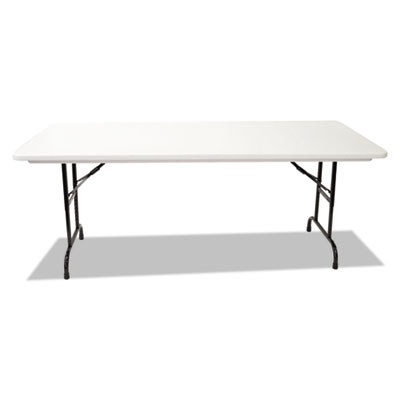 Blow molded resin top folding tables, 60w x 30d x 22-32h, gray granite, sold as 1 each