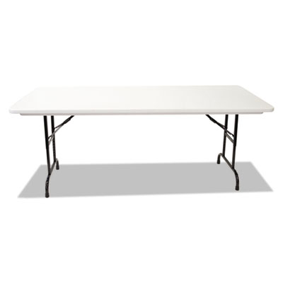 Blow molded resin top folding tables, 72w x 30d x 22-32h, gray granite, sold as 1 each