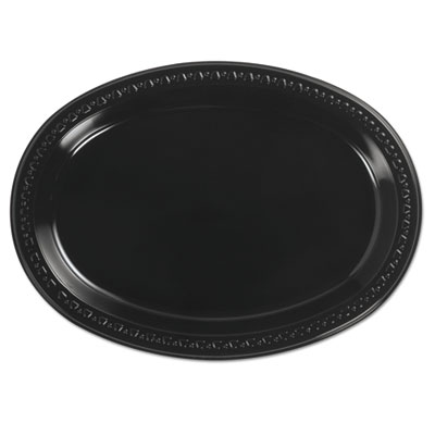 Heavyweight plastic platters, 8 x 11, black, 125/bag, 4 bag/carton, sold as 1 carton, 250 each per carton