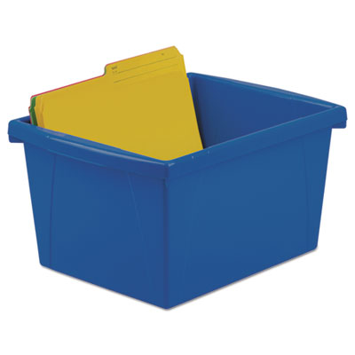 Storage bins, 10 x 12 5/8 x 7 3/4, 4 gallon, assorted color, plastic, sold as 1 each