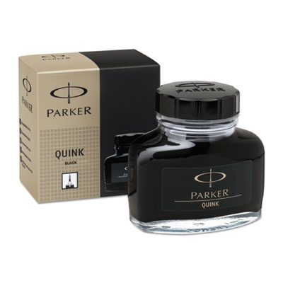 Super quink permanent ink for parker pens, 2 oz bottle, black, sold as 1 each