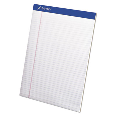 Mead legal ruled pad, 8 1/2 x 11, white, 50 sheets, 4 pads/pack, sold as 1 package