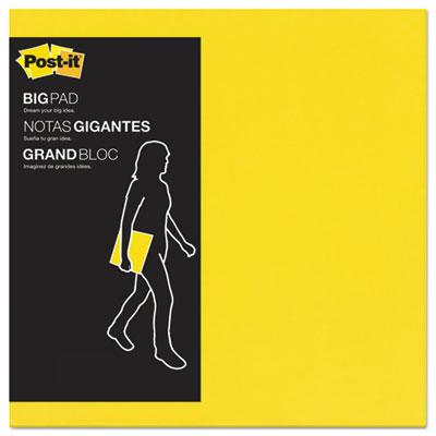 Big pad, 11 x 11, bright yellow, 30 sheets/pad, sold as 1 pad