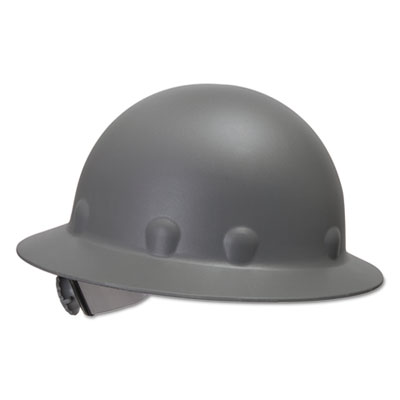 Supereight thermoplastic hard hat, 3-r ratchet suspension, gray, sold as 1 each