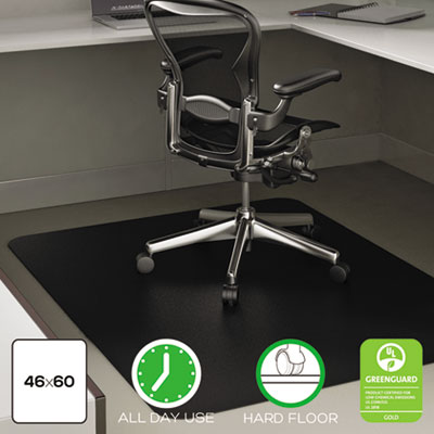 Economat anytime use chair mat for hard floor, 45 x 53, black, sold as 1 each