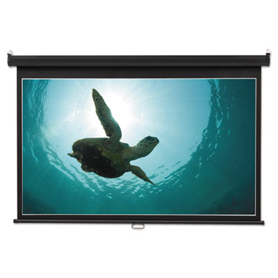 Wide format wall mount projection screen, 65 x 116, white, sold as 1 each