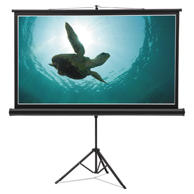 Wide format tripod base projection screen, 52 x 92, white, sold as 1 each