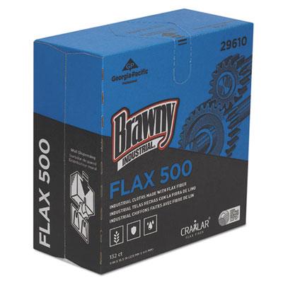 Flax 500 light duty cloths, 9 x 16 1/2, white, 132/box, 10 box/carton, sold as 1 carton, 10 each per carton