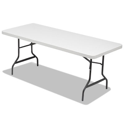 Folding table, 72w x 30d x 29h, platinum/charcoal, 15/pallet, sold as 1 pallet