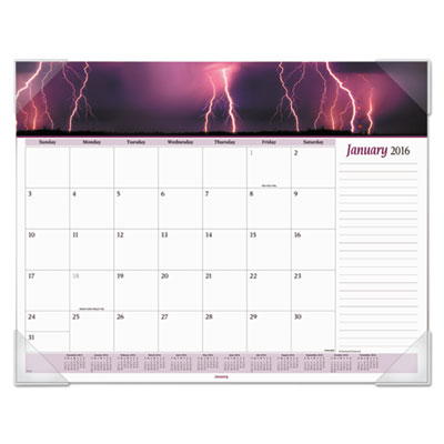 Mother nature recycled monthly desk pad, 22 x 17, 2016, sold as 1 each