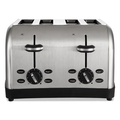 Extra wide slot toaster, 4-slice, 12 3/4 x 13 x 8 1/2, stainless steel, sold as 1 each