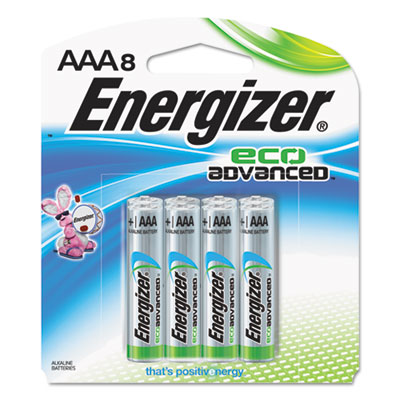 Eco advanced batteries, aaa, 8/pk, sold as 1 package