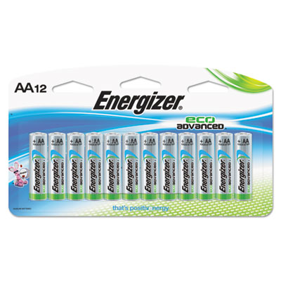 Eco advanced batteries, aa, 12/pk, sold as 1 package