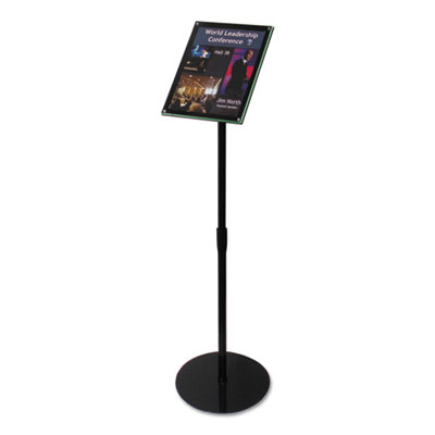 Telescoping sign display, 13 x 13 x 48, black, sold as 1 each