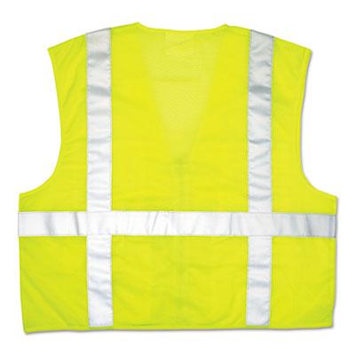 Luminator safety vest, lime green w/stripe, xxxl, sold as 1 each