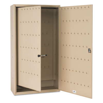 Fob key cabinet, 130-key, steel, sand, sold as 1 each