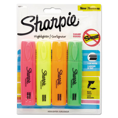 Blade tip highlighter, assorted, 4/pack, sold as 1 package