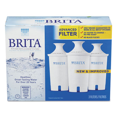 Water filter pitcher advanced replacement filters, 3/pack, sold as 1 package