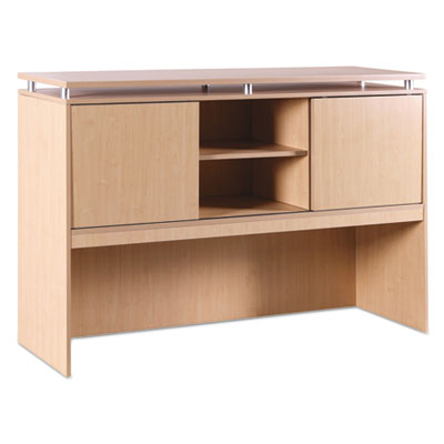 Sedina series hutch with sliding doors, 66w x 15d x 42 1/2h, maple, sold as 1 each