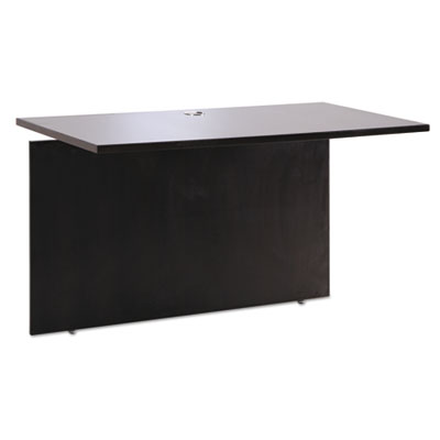 Sedina series reversible return/bridge, 47 1/4w x 23 5/8d x 29 1/2h, espresso, sold as 1 each