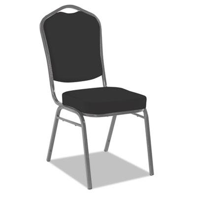 Banquet chairs with crown back, black/silver, 4/carton, sold as 1 carton, 4 each per carton