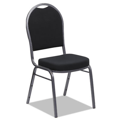 Banquet chairs with dome back, black/silver, 4/carton, sold as 1 carton, 4 each per carton