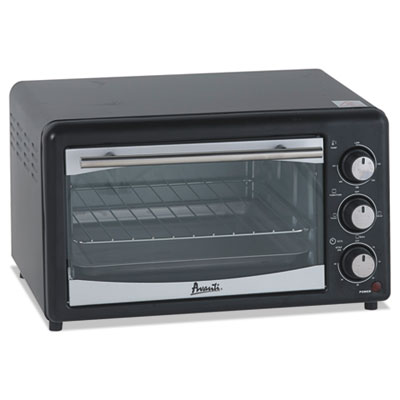 Toaster oven, 4 slice capacity, stainless steel/black, sold as 1 each