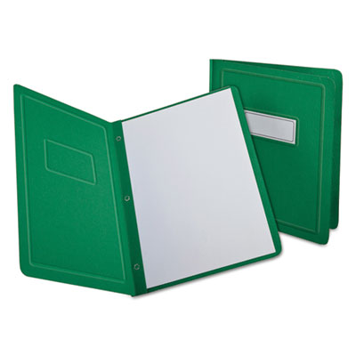 Report cover, 3 fasteners, panel and border cover, letter, green, 25 per box, sold as 1 box, 25 each per box