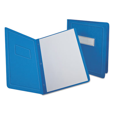Report cover, 3 fasteners, panel and border cover, letter, light blue, 25/box, sold as 1 box, 25 each per box