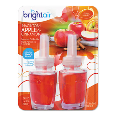 Electric scented oil air freshener refill, macintosh apple/cinnamon,2/pk, 6pk/ct, sold as 1 carton, 6 each per carton